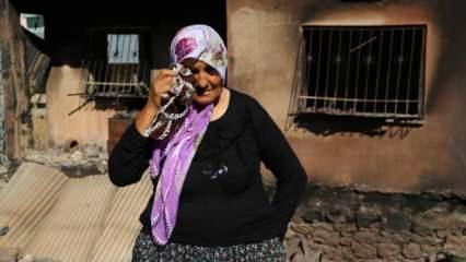 Adana'daki yangında evi yanan Fatma teyzenin 10 yıl önce de bakkalı yanmış
