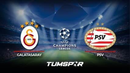 Galatasaray PSV maçı ne zaman saat kaçta hangi kanalda? GS PSV maçı muhtemel 11'leri!