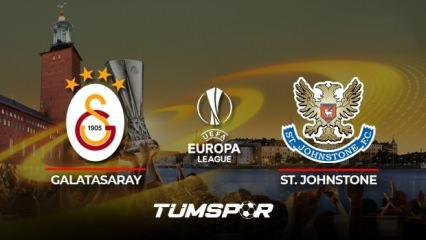 Galatasaray St. Johnstone maçı ne zaman saat kaçta hangi kanalda? İşte GS St. Johnstone 11'leri!