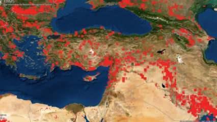Türkiye'deki orman yangınları NASA uydusuna böyle yansıdı