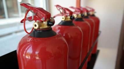 Yangın tüpü satışları arttı