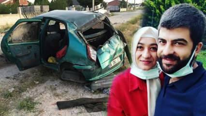Feci kaza genç çift ile çocuklarını ayırdı!