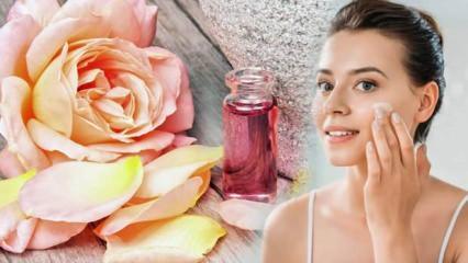 Gül suyunun cilde faydaları nelerdir? Gül suyu ile yüz temizleme...