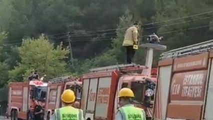 İBB yönetimi pes dedirtti! Yangın varken itfaiyecileri şova zorladılar