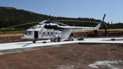 Yangınlar için kiralanan helikopter Eskişehir'de