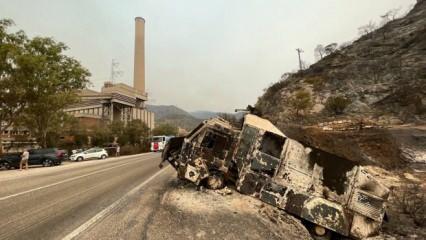 Termik Santral bölgesi yangından sonra görüntülendi! Korkunç manzara...