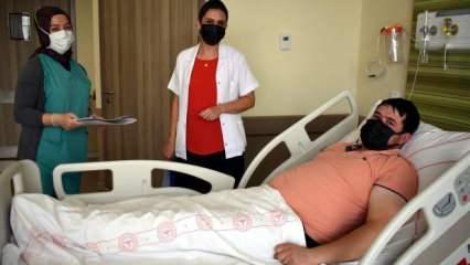 Eşi hamile diye aşı olmadı, koronaya yakalandı! 14 günlük bebeğini göremediği için pişman