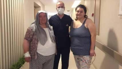 134 kiloya ulaşan babaanne ve torunu aynı gün obezite ameliyatı oldu