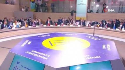 44 ülkenin katıldığı zirvede Türkiye'den net duruş: Kırım Ukrayna'dır