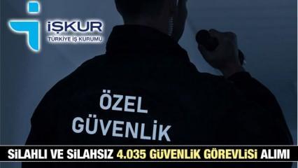 İŞKUR silahsız ve silahlı 4.035 güvenlik görevlisi alım ilanı! İŞKUR iş ilanları...