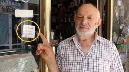 Trabzon'da 83 yaşındaki esnafın dükkanına astığı bu yazı cirosunu arttırdı!