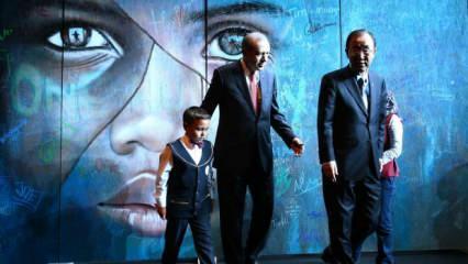 Cumhurbaşkanı Erdoğan'ın kabulünde dikkat çeken tablo