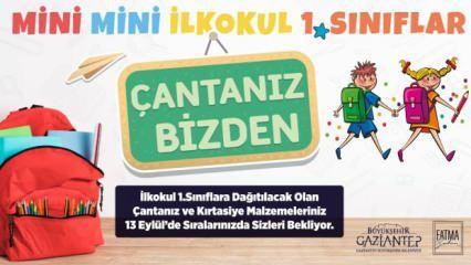 Gaziantep'te ilkokul 1'inci sınıf öğrencilerinin çantaları Büyükşehir'den!