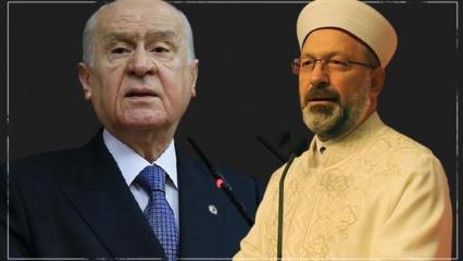 Bahçeli'den Diyanet İşleri Başkanı Erbaş'a tam destek