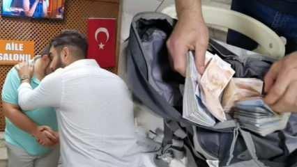 İnsanlık ölmemiş dedirten hareket! Para dolu çantayı polise teslim etti
