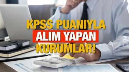 KPSS 60 65,70,75,80 ve 85 puanla hangi kurumlar memur alımı yapar? P1,P2 ve P3 puan türüyle alım yapan yerler!