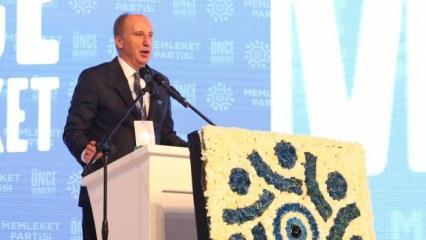 Memleket Partisi Genel Başkanı Muharrem İnce: Açıklıyorum cumhurbaşkanlığına adayım