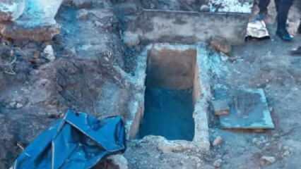 Ordu'da yol inşaatında 2 bin yıllık lahit mezarlar bulundu