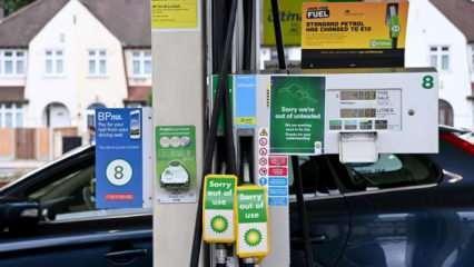 İngiltere'de büyük kriz! Petrol istasyonlarına akın ettiler