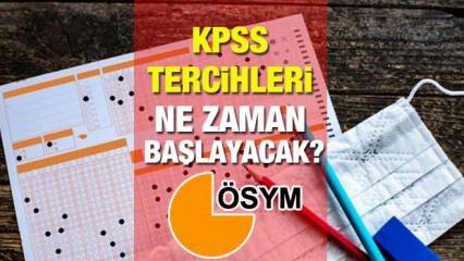 KPSS tercihleri ne zaman başlayacak? ÖSYM 2021/2 KPSS tercih tarihlerini açıkladı mı?