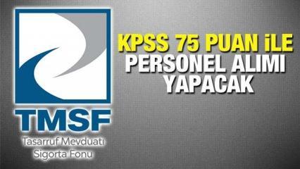 TMSF KPSS 75 puan ile personel alım ilanı! Başvuru ne zaman sona erecek?