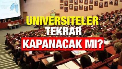 Üniversiteler kapanacak mı? Sağlık Bakanı Koca'dan kritik açıklama! Üniversitelerin açılması mevcut vaka sayısına...