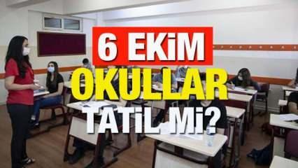 6 Ekim Çarşamba günü okullar tatil mi olacak?  İstanbul'un Kurtuluşu resmi tatil mi?
