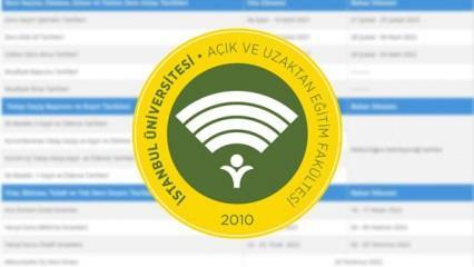 AUZEF ara sınav tarihleri güncellendi! İstanbul Üniversitesi ara sınavları online mı yüz yüze mi?