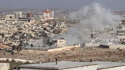 Suriye rejimi Türkiye sınırına yakın kenti vurdu! Ölü ve yaralılar var
