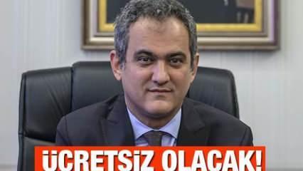 MEB Bakanı Mahmut Özer'den öğrencilere müjdeli haber! Kesinlikle almasınlar! Ücretsiz olacak...