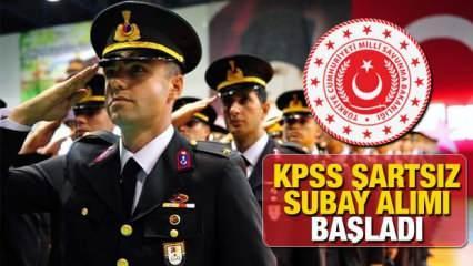 Milli Savunma Bakanlığı (MSB) KPSS şartsız subay alımı yapıyor! 2021 subay alımı başvuru şartları