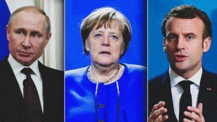 Putin, Merkel ve Macron'dan telefonda Ukrayna zirvesi
