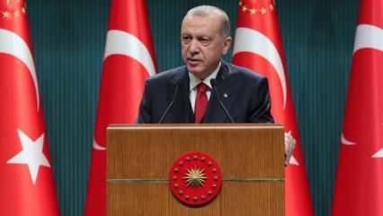 Cumhurbaşkanı Erdoğan açıkladı: Bir bakanlığın ismi değişti