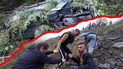 Yolcu otobüsü 150 metreden dereye uçtu! Ölü ve yaralılar var