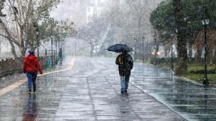 Son Dakika: Meteorolojiden bu illere kritik uyarı! Karla karışık yağmur geliyor