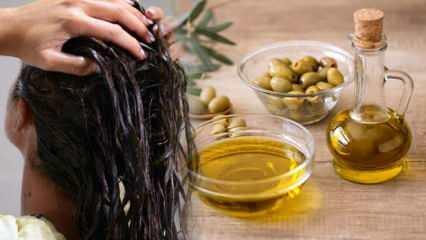 Kuru saçlar için zeytinyağı maskesi nasıl uygulanır? Zeytinyağlı saç maskesi faydaları...