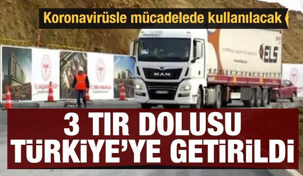 Koronavirüsle mücadelede kullanılacak! 3 TIR dolusu cihaz Türkiye'de
