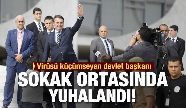 Korona virüsü umursamayan devlet başkanı sokak ortasında yuhalandı