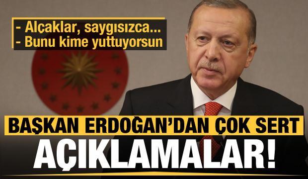Son dakika: Erdoğan'dan çok sert açıklamalar!