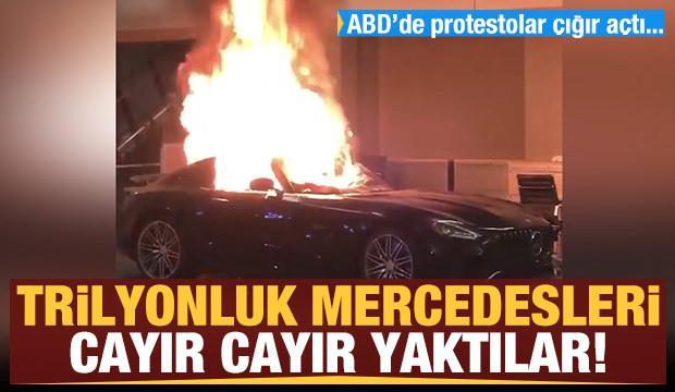 Trilyonluk Mercedesleri cayır cayır yaktılar!