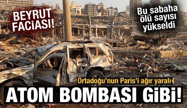 Beyrut'tan korkunç fotoğraflar!