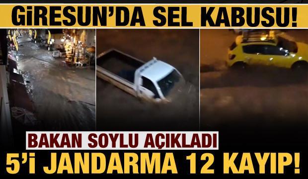 Giresun'da sel felaketi: 1 asker ve 2 vatandaşın cansız bedenine ulaşıldı