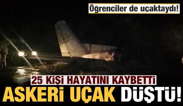 Ukrayna'da askeri uçak düştü: Ölü sayısı 25'e yükseldi