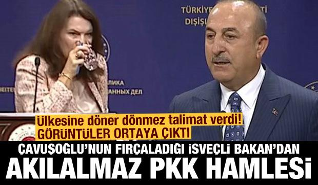 Çavuşoğlu'nun fırçaladığı İsveçli Bakan'dan skandal PKK hamlesi
