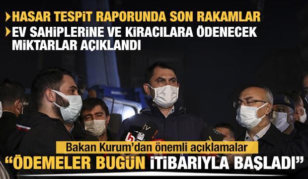 Bakan Kurum açıkladı: Ödemeler bugün itibarıyla başladı