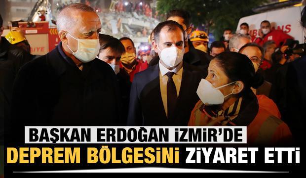Cumhurbaşkanı Erdoğan, İzmir'de deprem bölgesini ziyaret etti