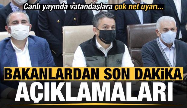 İzmir depremi ile ilgili son dakika açıklamaları! Canlı yayında vatandaşlara çok net uyarı