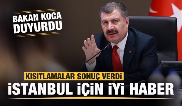 Son dakika: Kısıtlamalar sonuç verdi! Bakan Koca'dan İstanbul için iyi haber!