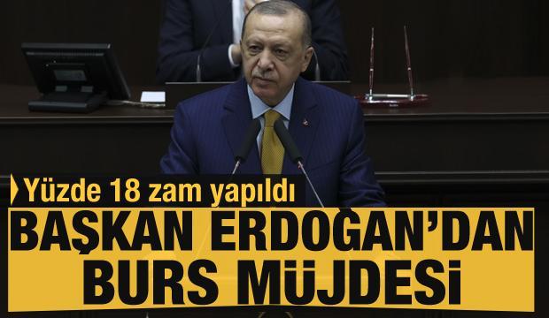 Cumhurbaşkanı Erdoğan'dan öğrencilere burs müjdesi
