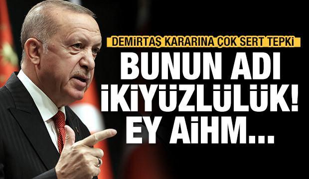 Erdoğan'dan çok sert Demirtaş tepkisi
